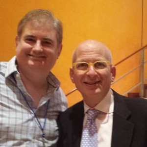 Ross Brand (left) with Seth Godin