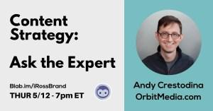 Andy Crestodina Livestream Universe Content Strategy