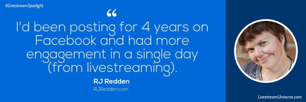 RJ Redden Quote Livestream Universe Spotlight