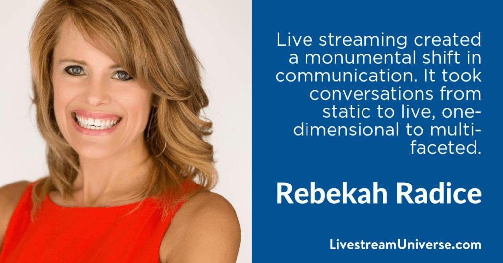 Rebekah Radice 2017 Prediction Livestream Universe