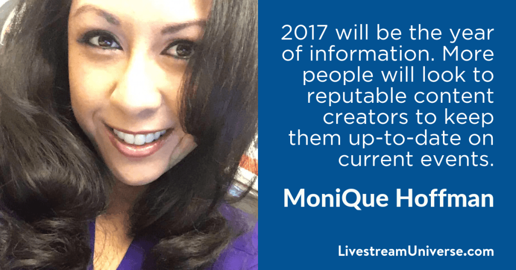 MoniQue Hoffman 2017 Prediction Livestream Universe