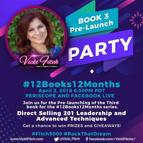 Vicki Fitch Facebook Live Book Launch