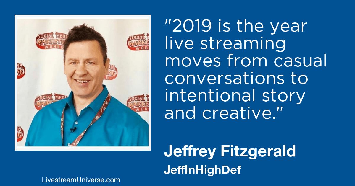 Jeffrey Fitzgerald livestream universe 2019 predictions