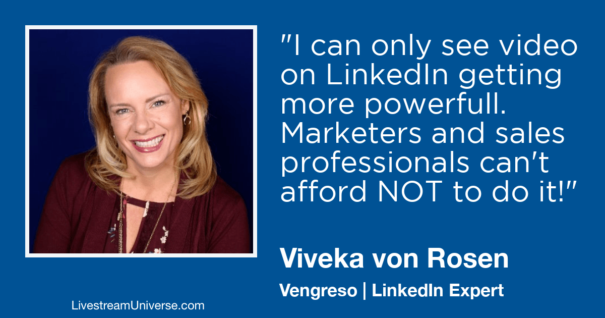 Viveka von Rosen LinkedIn Livestream Universe 2019 Prediction