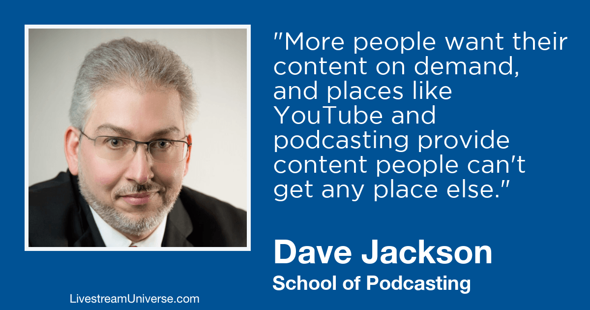 dave jackson podcast 2019 prediction livestream universe