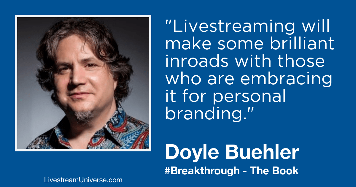 doyle buehler breakthrough livestream universe prediction 2019