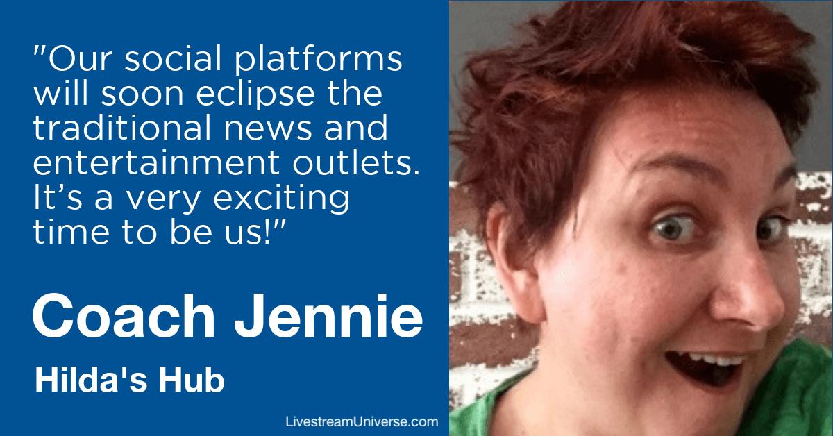coach jennie hilda livestream universe 2020 predictions