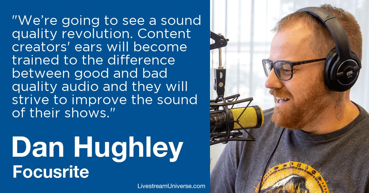 dan hughley focusrite livestream universe predictions 2020