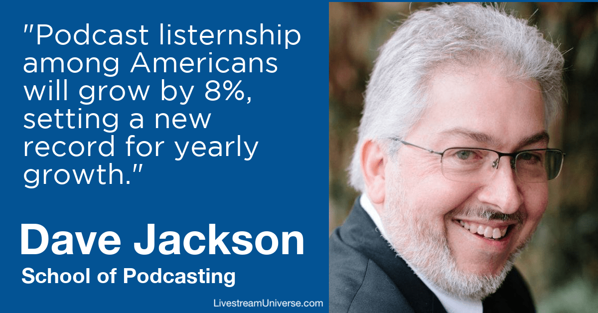 dave jackson school of podcasting livestream universe predictions 2020