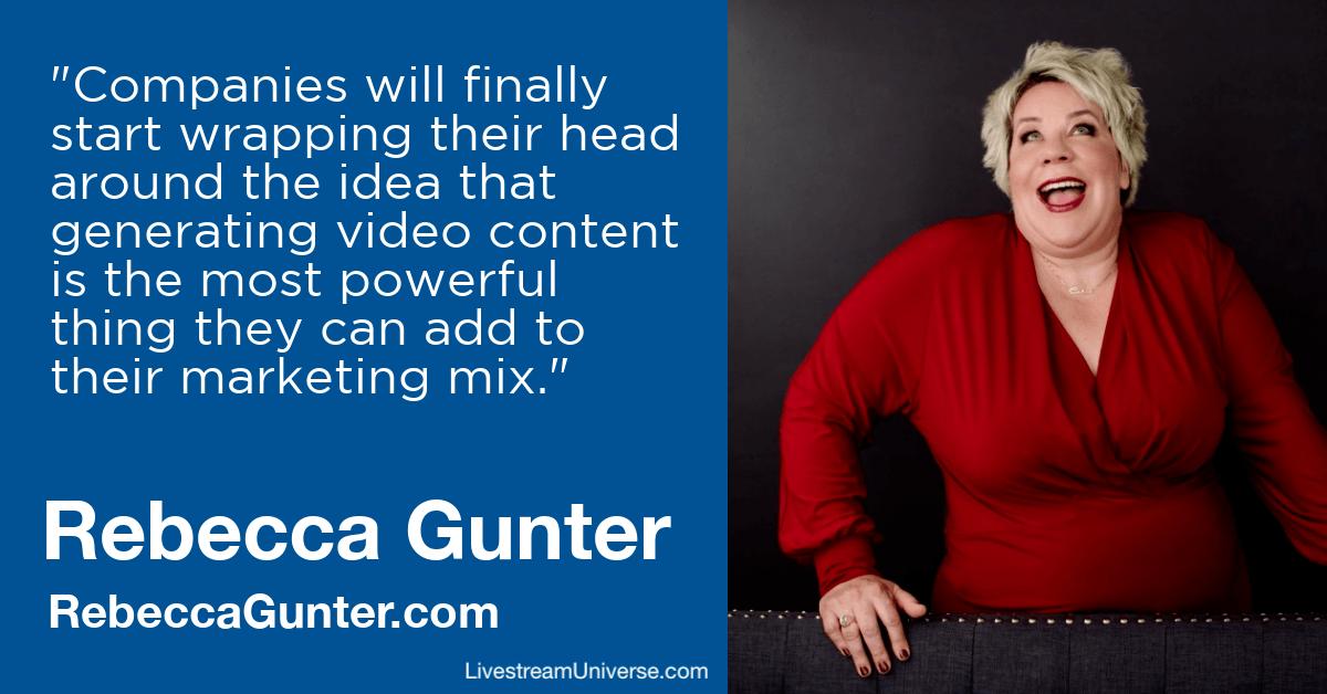 rebecca gunter livestream universe predictions 2020