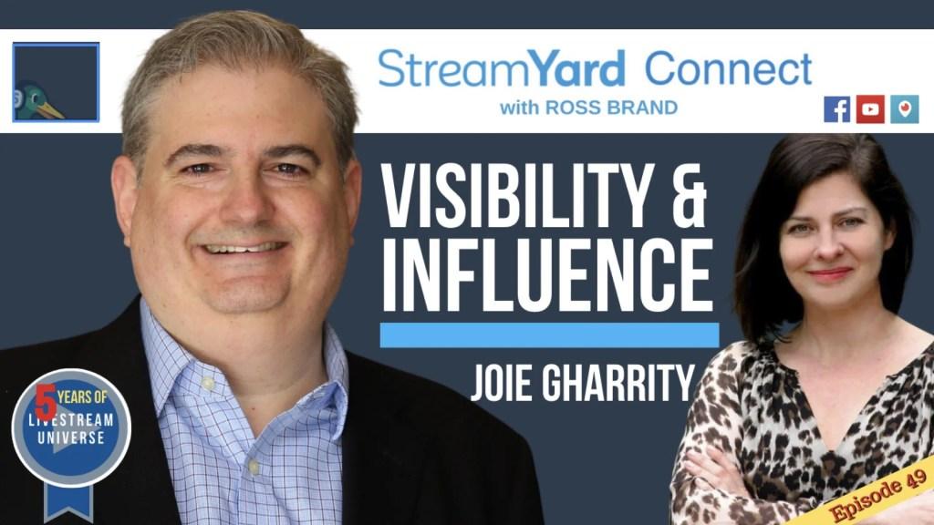 StreamYard Connect Ross Brand Joie Gharrity