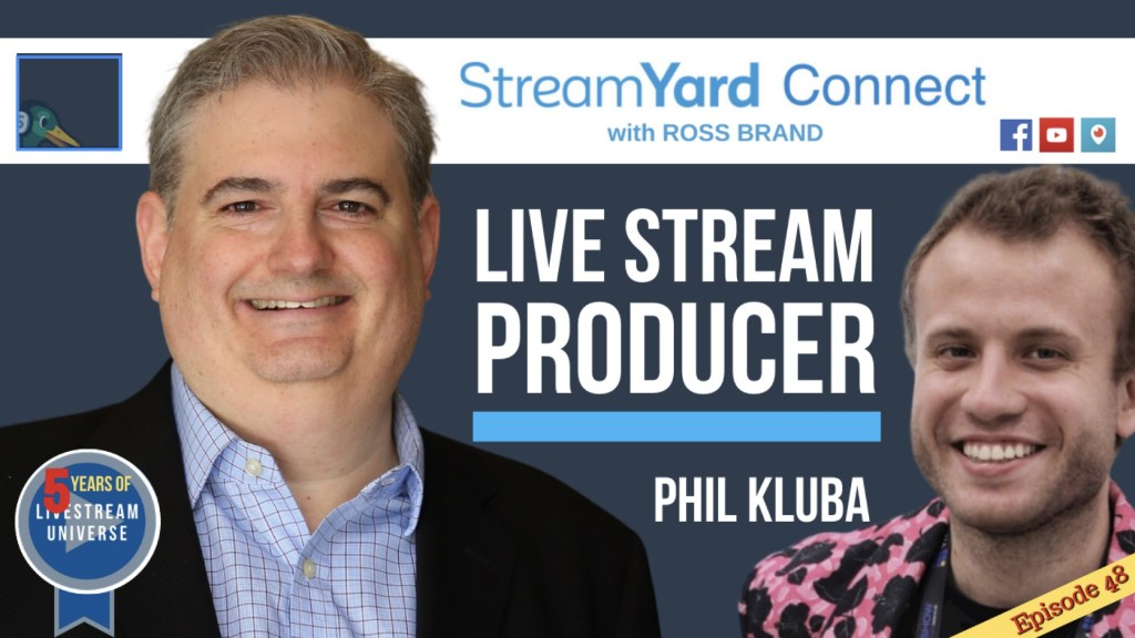 StreamYard Connect Ross Brand Phil Kluba