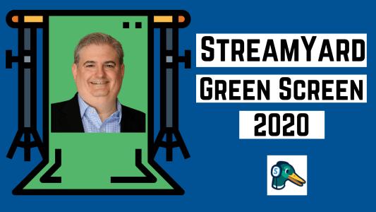 StreamYard Green Screen Ross Brand