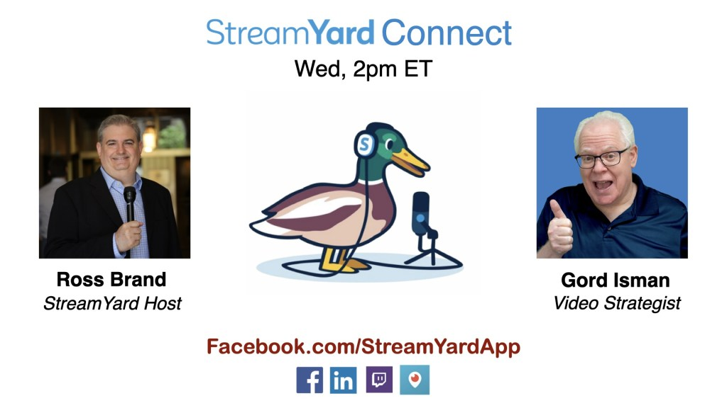 streamyard connect with ross brand ep29 Gord Isman