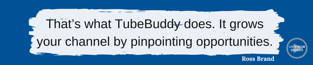tubebuddy quote andrew kan livestream universe predictions for live streaming 2021