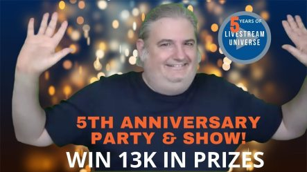Livestream Universe 5th anniversary party and show Ross Brand