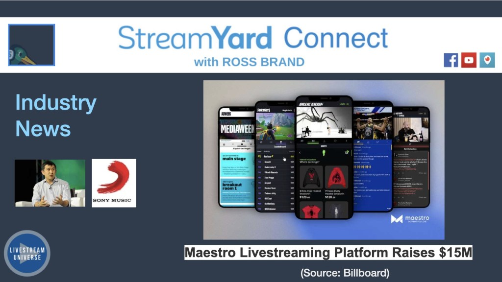 streamyard connect with ross brand maestro
