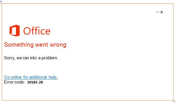 Error 30183-28