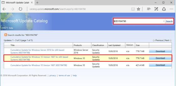 Microsoft update catalog