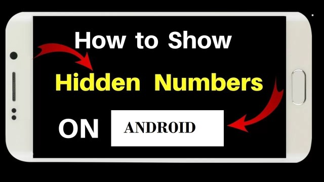 How to Hide A Number/Check Hidden Numbers