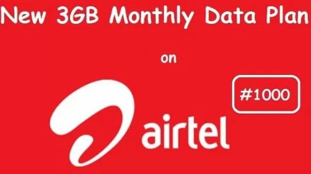airtel 3gb data for n1000 double data offer