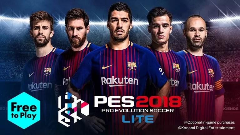 Download Pro Evolution Soccer 2018- PES 2018 APK + OBB Data Here