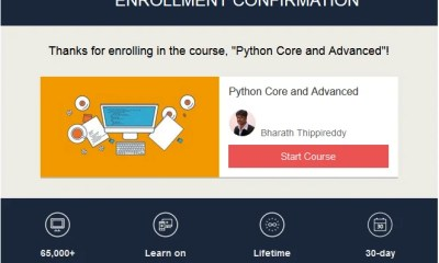 Enrol Now for Python Core and Advanced Course for Free