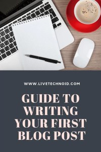 create your first blog post