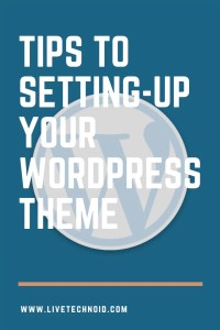 setup your WordPress Theme Features