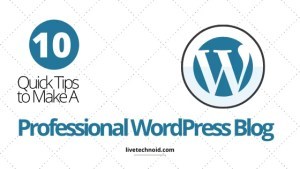 10 Quick Tips to Make a Professional WordPress Blog
