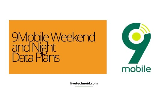 9Mobile Weekend and Night Data Plans