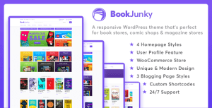 Download BookJunky v1.0.6 Premium WordPress BookStore Theme