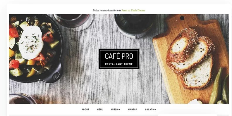 Download Cafe Pro v1.0.5 Genesis Child Restaurant Theme