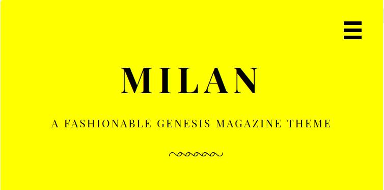 Download Milan Pro v1.1.0 Genesis Child Magazine Theme