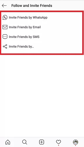 Select how you want your friends to be invited
