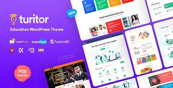 Download Turitor v1.1.2 Premium Educational WordPress Theme