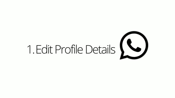 Edit Profile Details