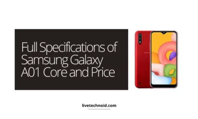 Full Specifications of Samsung Galaxy A01 Core and Price