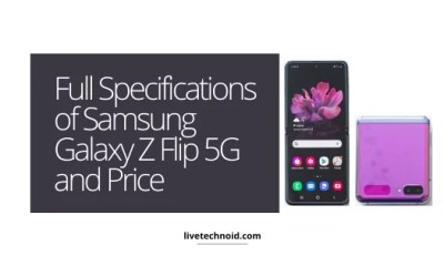 Full Specifications of Samsung Galaxy Z Flip 5G and Price