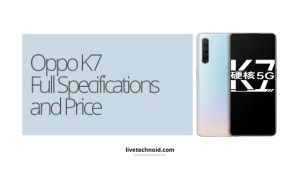 Oppo K7 Full Specifications and Price