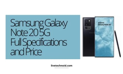 Samsung Galaxy Note 20 5G Full Specifications and Price