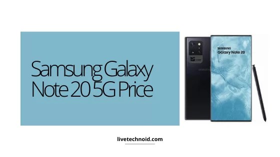 Samsung Galaxy Note 20 5G Price