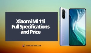 Xiaomi Mi 11i Full Specifications and Price