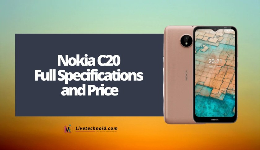 Nokia C20 Full Specifications and Price