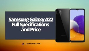 Samsung Galaxy A22 Full Specifications and Price