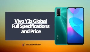 Vivo Y3s Global Full Specifications and Price
