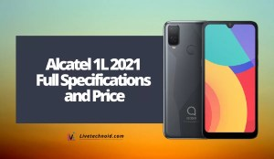 Alcatel 1L 2021 Full Specifications and Price