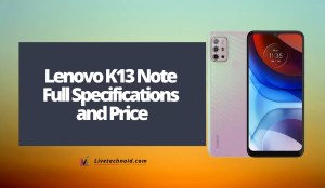 Lenovo K13 Note Full Specifications and Price