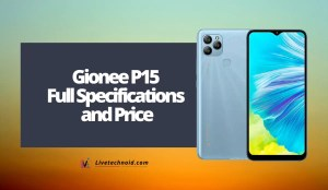Gionee P15 Full Specifications and Price