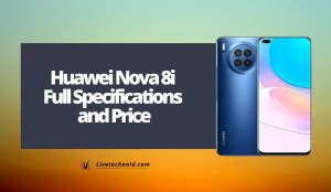 Huawei Nova 8i Full Specifications and Price